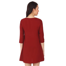 Load image into Gallery viewer, Red Polyester Short Dress