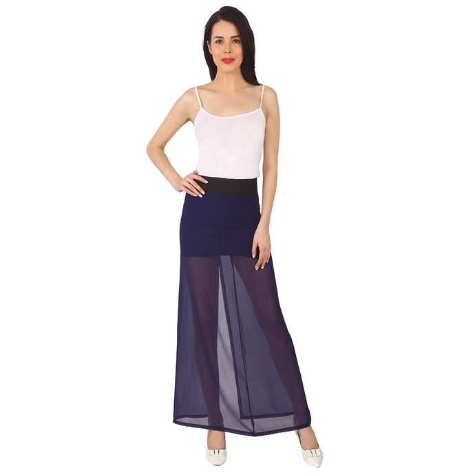 Navy Blue Maxi Skirt