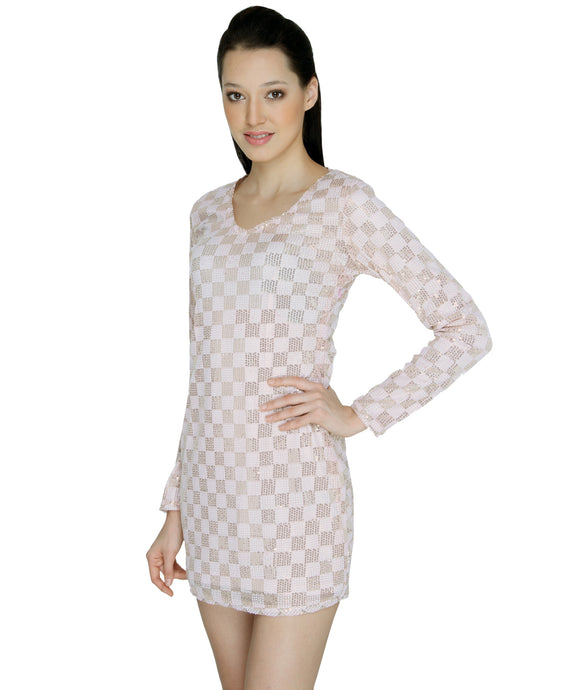 Pastel Checkered Sequinned Bodycon