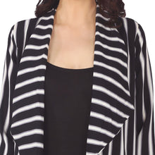 Load image into Gallery viewer, Black & White Striped Jacket