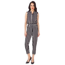 Load image into Gallery viewer, Zebra Striped Jumpsuit