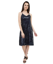 Load image into Gallery viewer, Bling Blackcurrant Bodycon Midi