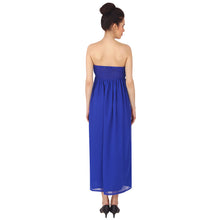 Load image into Gallery viewer, Royal Blue Chiffon Gathered Gown