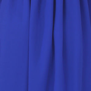 Royal Blue Chiffon Gathered Gown