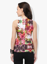 Load image into Gallery viewer, Floral Peplum Top