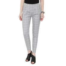 Load image into Gallery viewer, Grey Checks Formal Pants