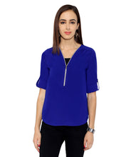 Load image into Gallery viewer, Royal Blue Zip Top