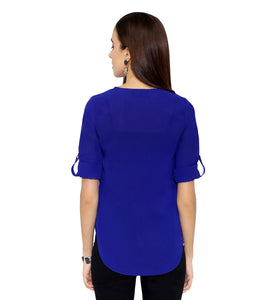 Royal Blue Zip Top