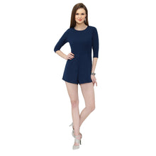 Load image into Gallery viewer, Navy Blue Short Jumpsuit