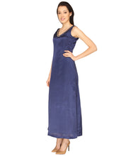 Load image into Gallery viewer, Satin Navy Blue Maxi