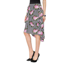 Load image into Gallery viewer, Striped & Floral Skirt