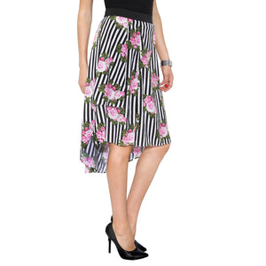 Striped & Floral Skirt