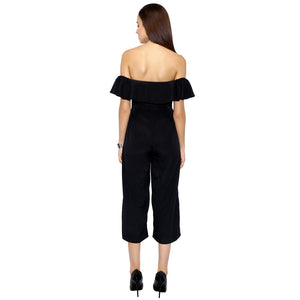 Black Frilled Jumpsuit