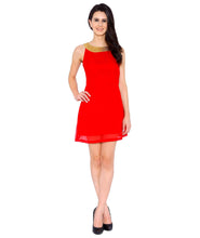 Load image into Gallery viewer, Red Georgette Dress