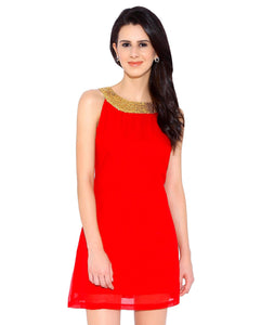 Red Georgette Dress