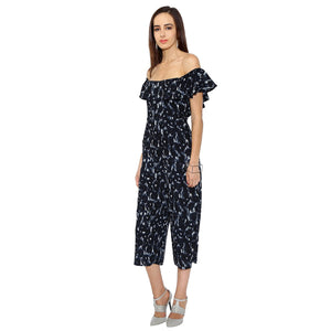 Frilled Printed Jumpsuit