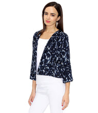 Load image into Gallery viewer, Short Frilled Printed Jacket