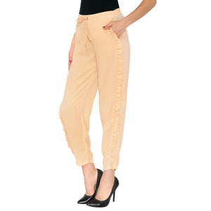 Peach Pants With Side Flares