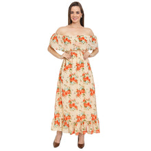 Load image into Gallery viewer, Floral Printed Bardot Dress