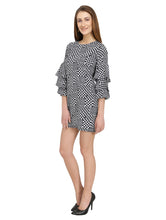 Load image into Gallery viewer, Geometric Printed Bell Sleeves Dress