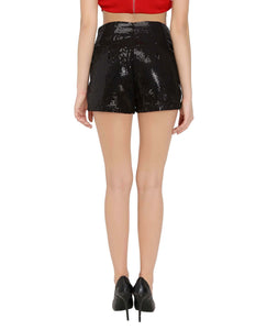 Black Sequins Shorts