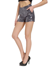 Load image into Gallery viewer, Grey Sequins Shorts