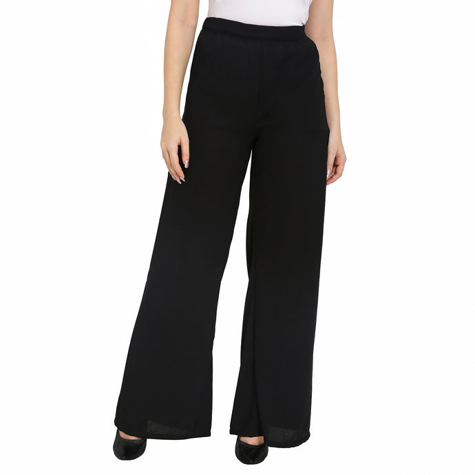 Black Formal Flared Trousers