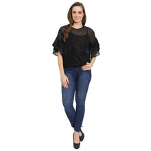 Load image into Gallery viewer, Net Shimmer Belle Sleeves Top