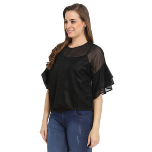 Net Shimmer Belle Sleeves Top