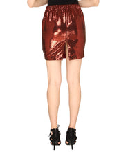 Load image into Gallery viewer, Maroon Sequin Fitted Skirt