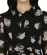 Load image into Gallery viewer, Floral Georgette Collared Dress