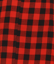 Load image into Gallery viewer, Red Checks Cotton Shirt Dress