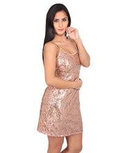 Load image into Gallery viewer, Sequin Body Fit Spaghetti Strap Dress