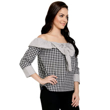Load image into Gallery viewer, Grey Cotton Cheecks Bardot Top