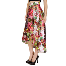 Load image into Gallery viewer, Asymmetric Floral Printed Skirt