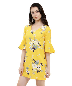 Yellow Floral Summer Dress