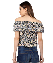 Load image into Gallery viewer, Floral Bardot Lace Top