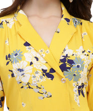 Load image into Gallery viewer, Yellow Floral Midi Summer Dress