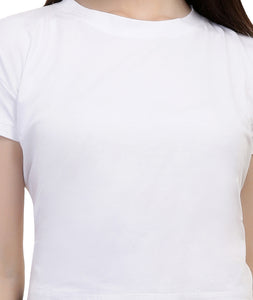 White Cropped T shirt