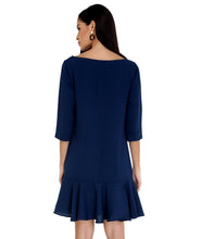 Load image into Gallery viewer, Midnight Blue Frilled Dress