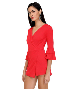 Hot Pink Shimmer Wrap Playsuit