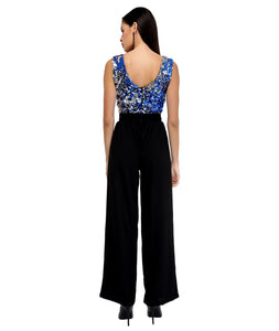 Two-Toned Shimmer Jumpsuit