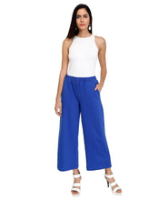 Load image into Gallery viewer, Bright Blue Knit Flared Pants