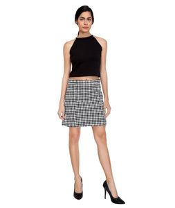Hound Printed Thick Mini Skirt