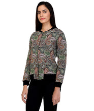 Load image into Gallery viewer, Paisley Zip Up Jacket