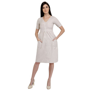 Cotton Cream Day Dress