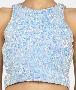 Frozen Sequins Mini Skirt