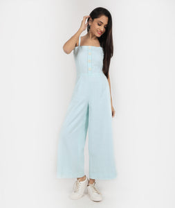 Mint Green Cotton Jumpsuit