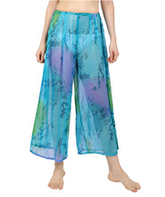 Load image into Gallery viewer, Sea Blue Printed Beach Pants