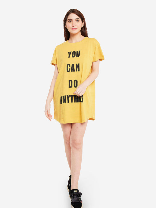 You Can Do Anything T-Dress
